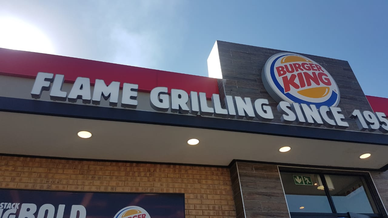 3D Burger King Letters and Logo