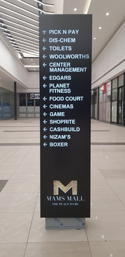 Mams Mall Way-Finding Pylon Sign