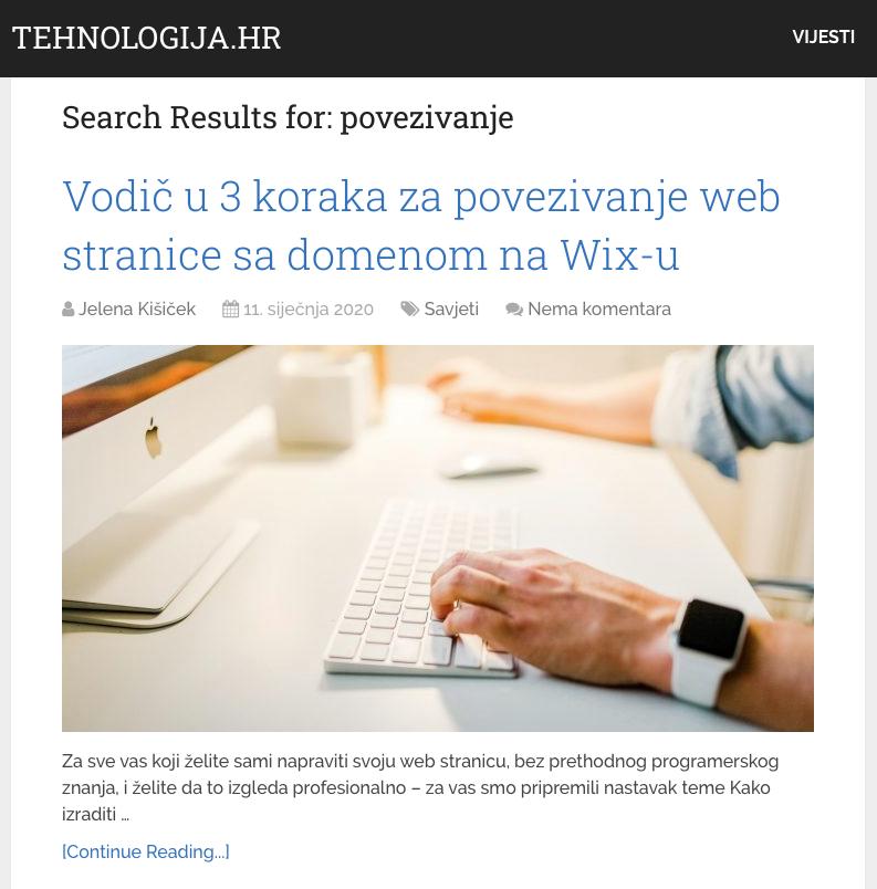Kako povezati web stranicu sa domenom