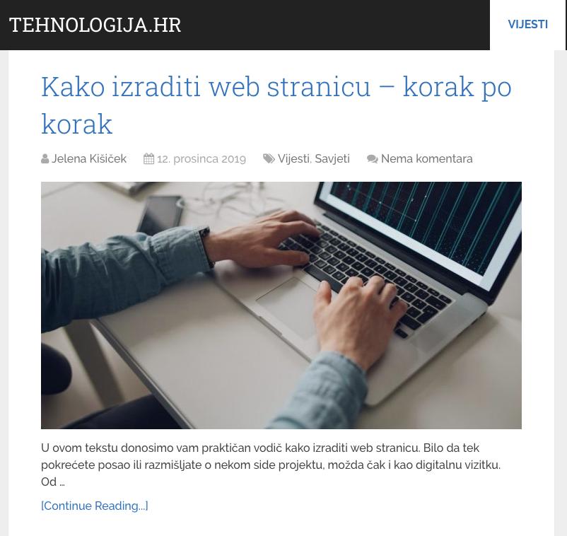 Kako izraditi web stranicu