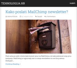 Kako poslati MailChimp newsletter?