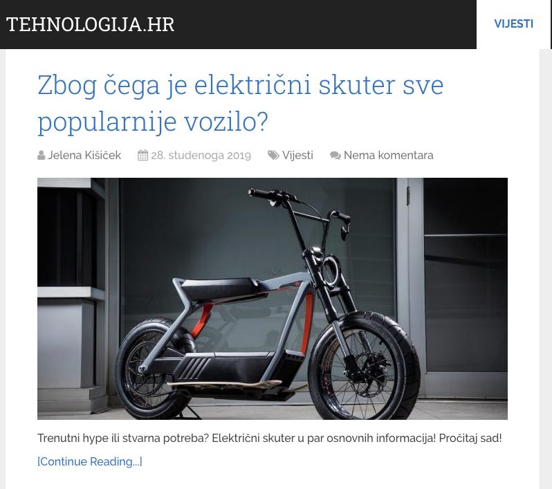 Popularnost električnog skutera
