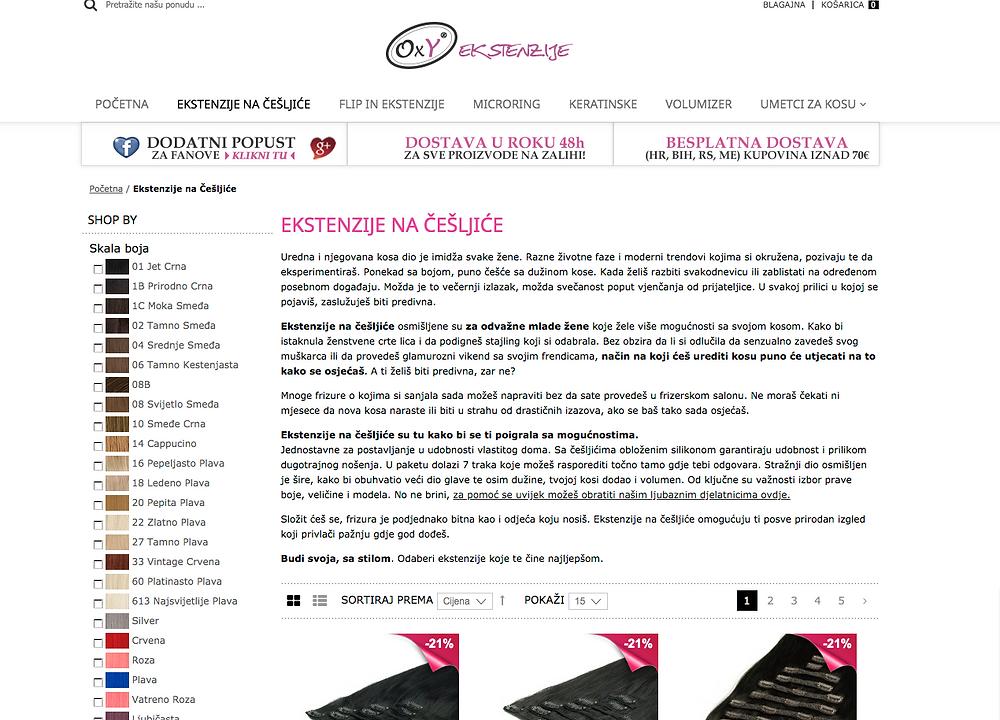 Opis proizvoda u web shopu