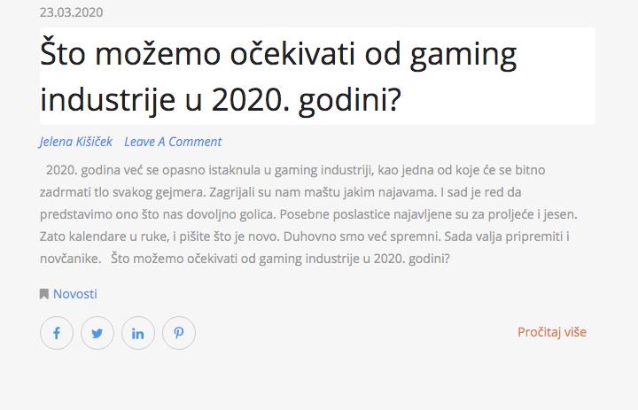 Što možemo očekivati od gaming industrije u 2020. godini?