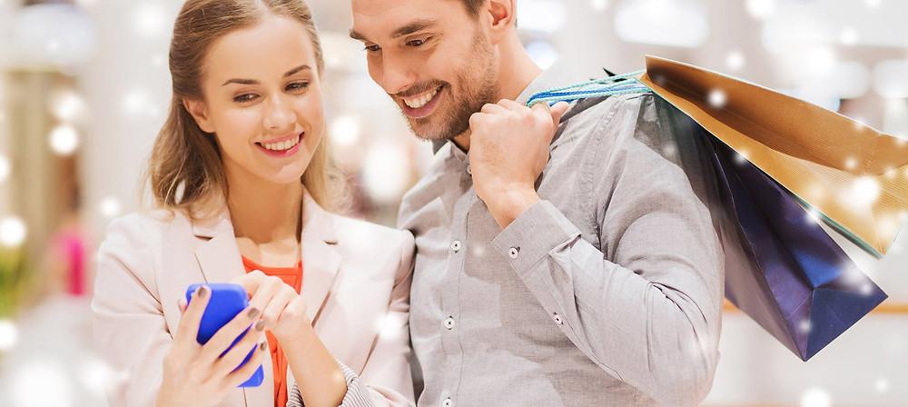 Muškarac i žena u trgovini