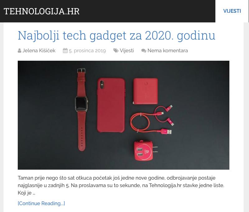 Najbolji tech gadget za 2020. godinu