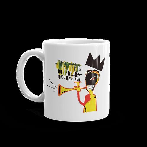 Jean-Michel Basquiat Trumpet 1984 Artwork Mug