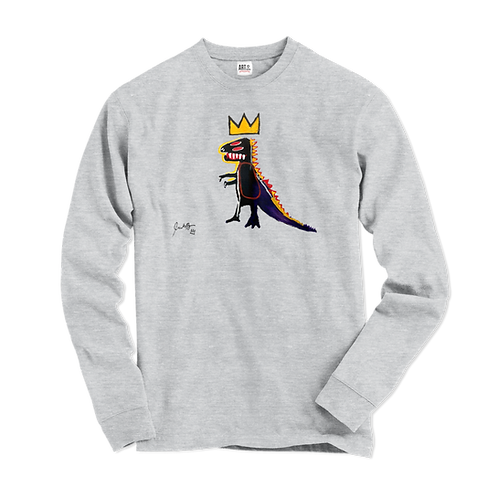 Jean-Michel Basquiat Pez Dispenser (Dinosaur) 1984 Artwork Long Sleeve Shirt