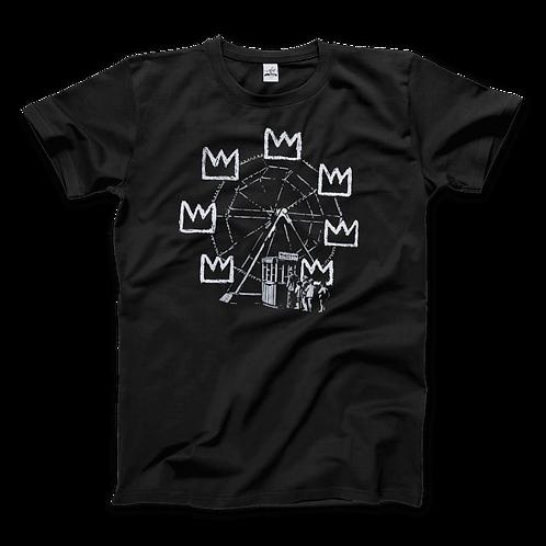 Banksy Ferris Wheel Homage to Basquiat Artwork T-Shirt