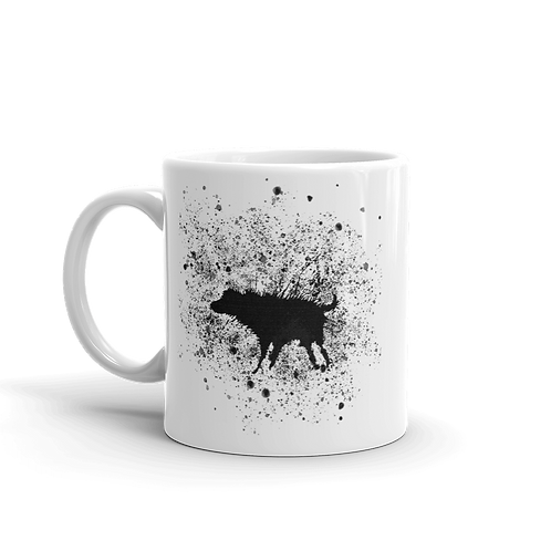 Banksy Wet Dog Splatter 2007 Street Art Mug