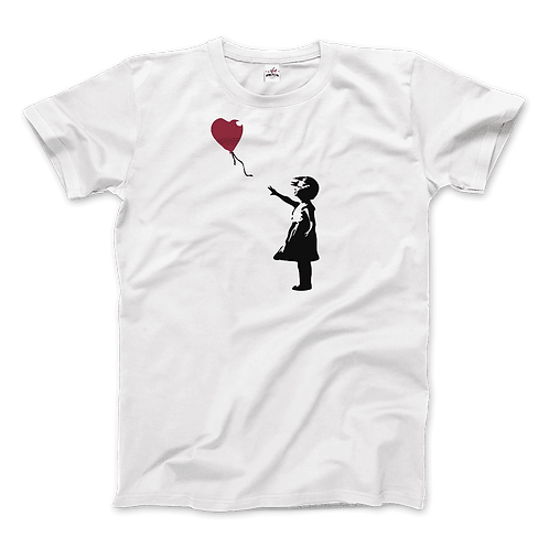 Banksy the Girl With a Red Balloon Artwork T-Shirt