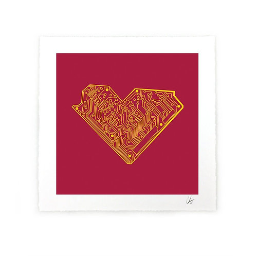 I Heart Tech Art Print