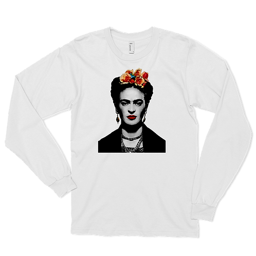 Frida Kahlo With Flowers Poster Artwork Long Sleeve Shirt