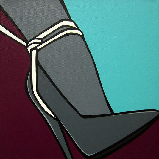 MG / Michel Gagnol - popart - strasbourg - erotic art - artiste peintre - french artist - escarpins - femme