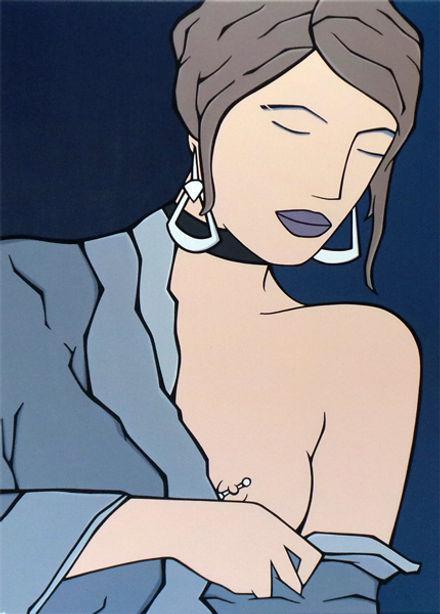MG / Michel Gagnol - popart - strasbourg - erotic art - artiste peintre - french artist - portrait - femme - tableau