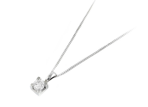 10k 0.20ct diamond solitaire pendant