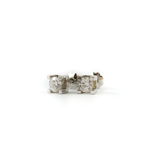 14k 0.25ctw diamond earrings