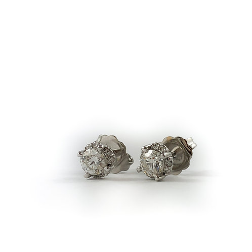 10k 0.40ctw Canadian diamond earrings