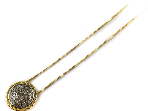 10k 0.18ctw diamond pendant