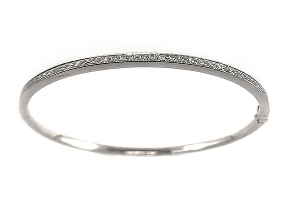 14k 0.44ct diamond bangle