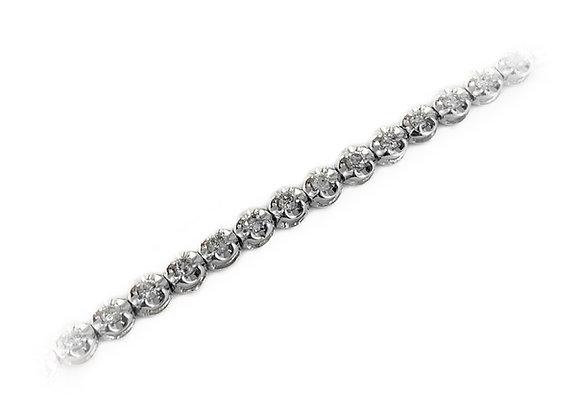 10k 1.00ct diamond bracelet