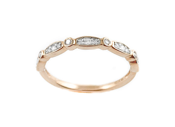 10k ladies diamond band