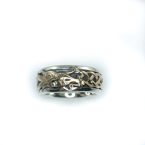 keith jack sterling silver and 10k gold ring