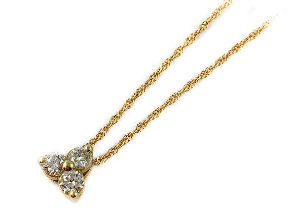 14k .30ctw trinity diamond pendant