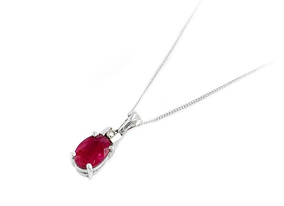 14k 0.86ct ruby and diamond pendant