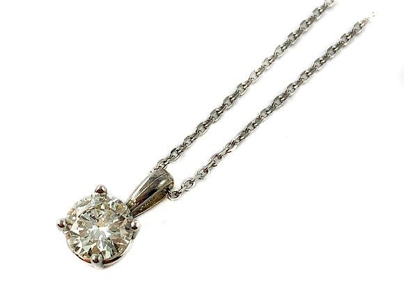 14k .71ct diamond solitaire pendant