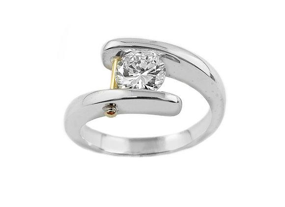 14k 0.98ct diamond ring