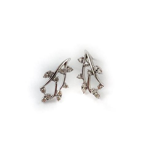 10k 0.50ctw diamond earrings