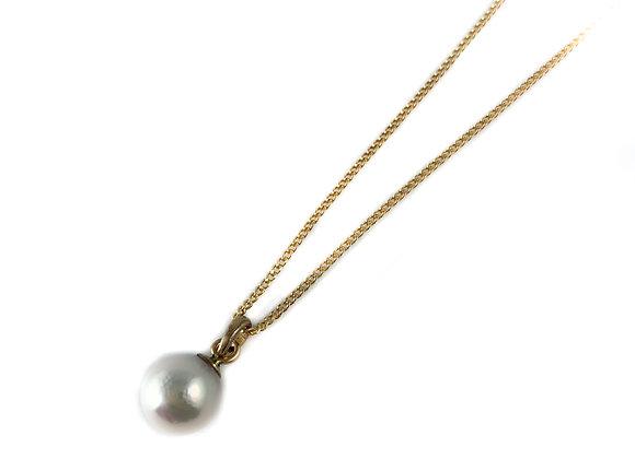 10k yellow gold pearl pendant
