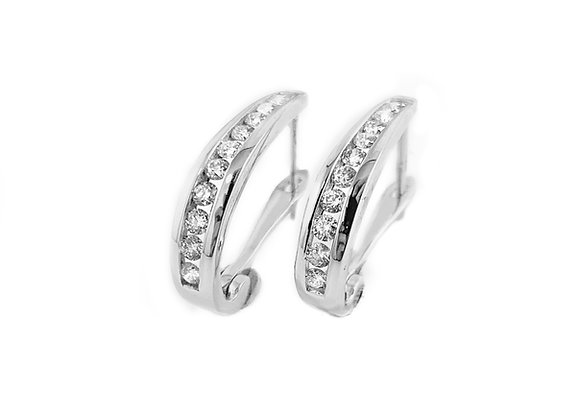 10k 0.50ctw diamond hoop earrings