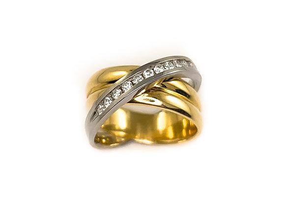 14k 0.22ctw diamond ring