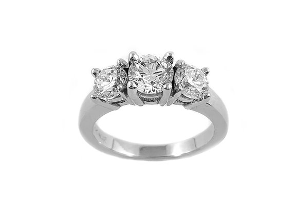 14k 0.81ctw diamond ring