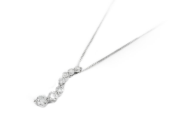14k 0.50ctw journey diamond pendant