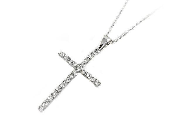 14k diamond cross