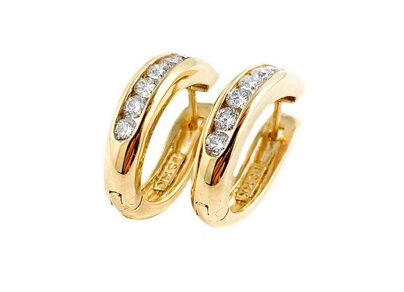 14k 0.70ctw diamond hoops