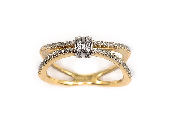 10k 0.24ctw diamond ring