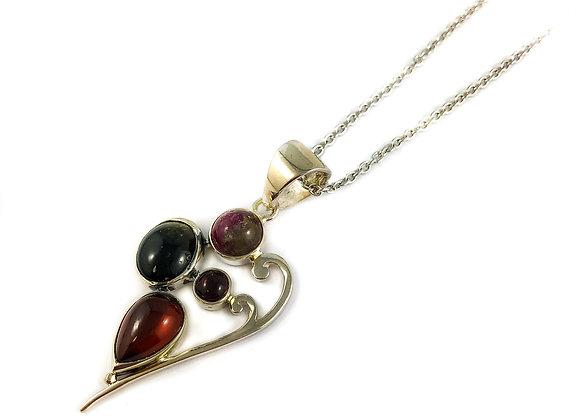 sterling silver tourmaline pendant
