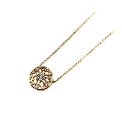 10k .12ctw Canadian diamond pendant