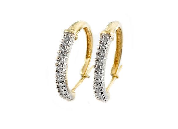 10k estate diamond hoops