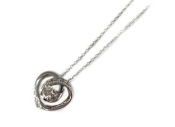 Canadian .29ct diamond heart pendant