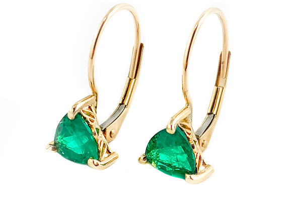 14k chatham emerald earrings