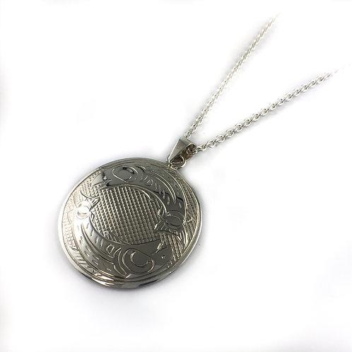 justin rivard sterling silver native pendant