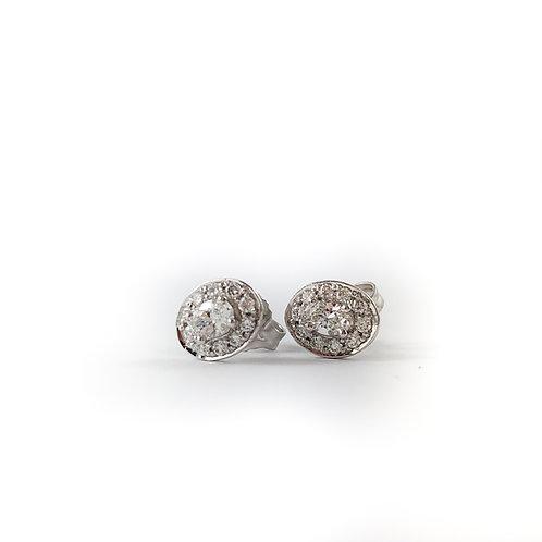 10k 0.35ctw diamond earrings