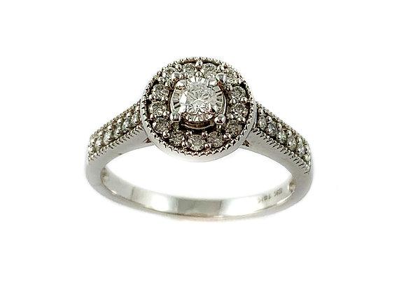 14k .50ctd diamond halo wedding set