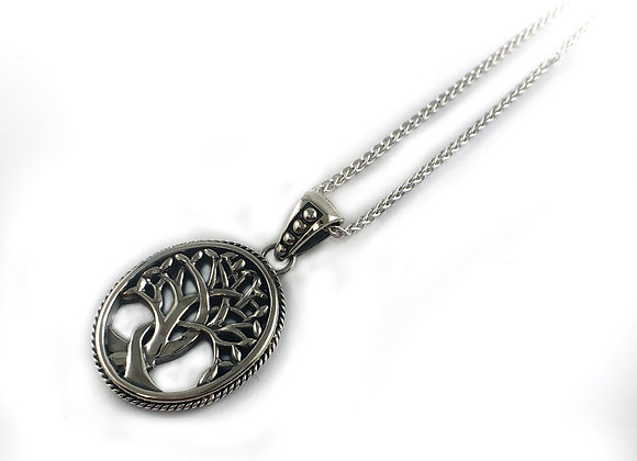 keith jack sterling silver tree of life pendant