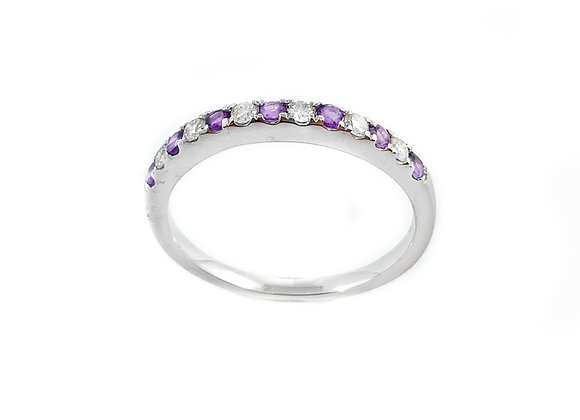 10k amethyst & 0.25ctw diamond ring